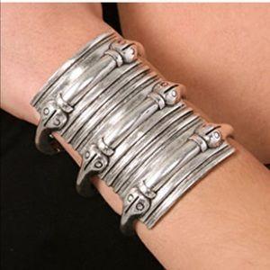 LOW LUV x Erin Wasson silver snake cuff bracelet